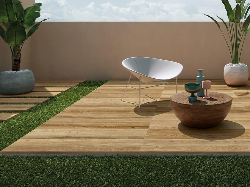 Porcelain stoneware outdoor floor tiles SYSTEM L2 OAK NATURAL L2 by LEA CERAMICHE