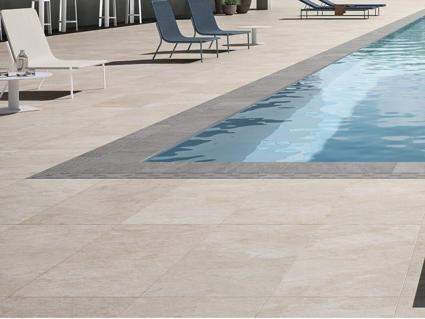 Porcelain stoneware outdoor floor tiles SYSTEM L2 SILVER FLOW - IVORY FLOW L2 by LEA CERAMICHE