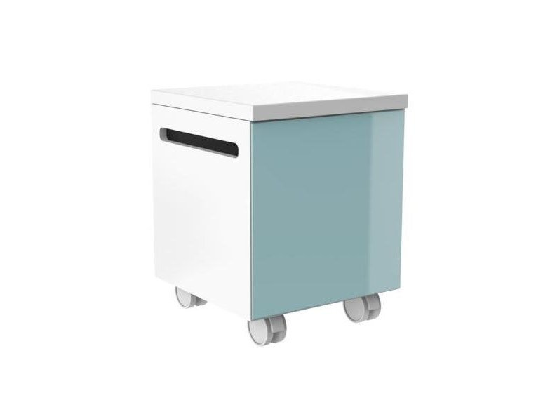 Storage floorstanding bathroom cabinet with casters SYSTEM M40 | Bathroom cabinet with casters by HEWI