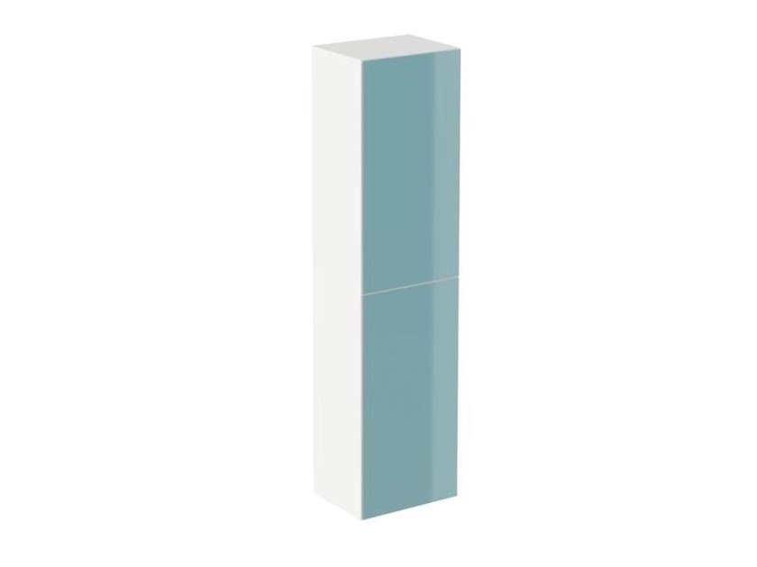 Tall MDF bathroom wall cabinet SYSTEM M40 | Double bathroom cabinet by HEWI