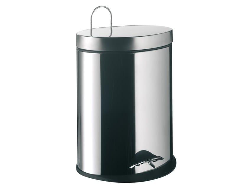 Stainless steel bathroom waste bin SYSTEM2 | Metal bathroom waste bin by Emco Bad