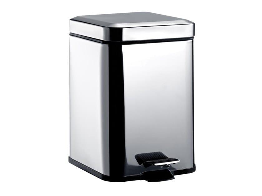 Stainless steel bathroom waste bin SYSTEM2 | Bathroom waste bin by Emco Bad