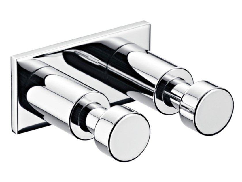 Double robe hook SYSTEM2 | Metal robe hook by Emco Bad