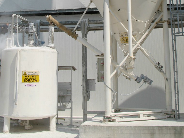 Dosage system Systems for lime milk by SAMI