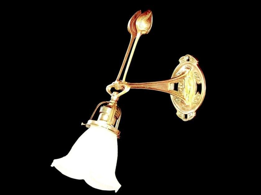Direct light brass wall lamp SZEGED I | Wall lamp by Patinas Lighting