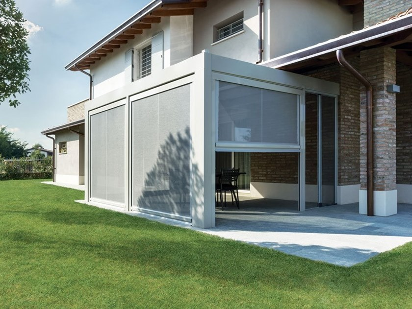 Sliding vertical aluminium insect screen T.2T FREE NET by Fanani