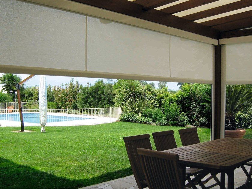 Aluminium and PVC roller blind with guide system T.2T FREE SUN by Fanani