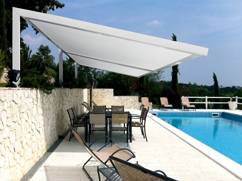 Motorized roller aluminium and PVC awning T.30 | Awning by Fanani