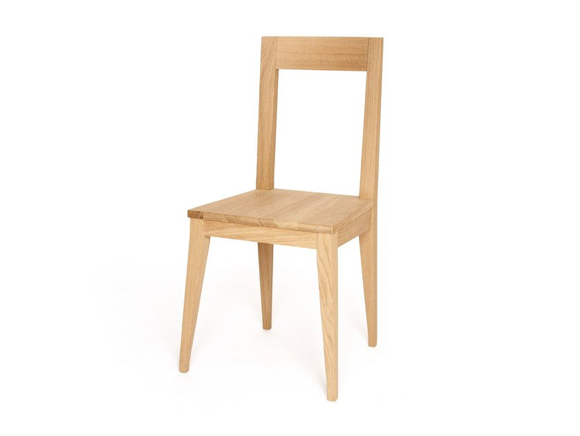 Open back wooden chair T-BONE by Z-Editions
