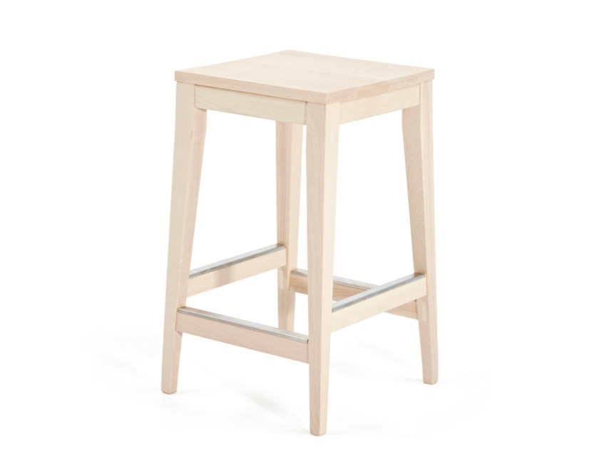 Sgabello alto in legno T-BONE K 62 by Z-Editions