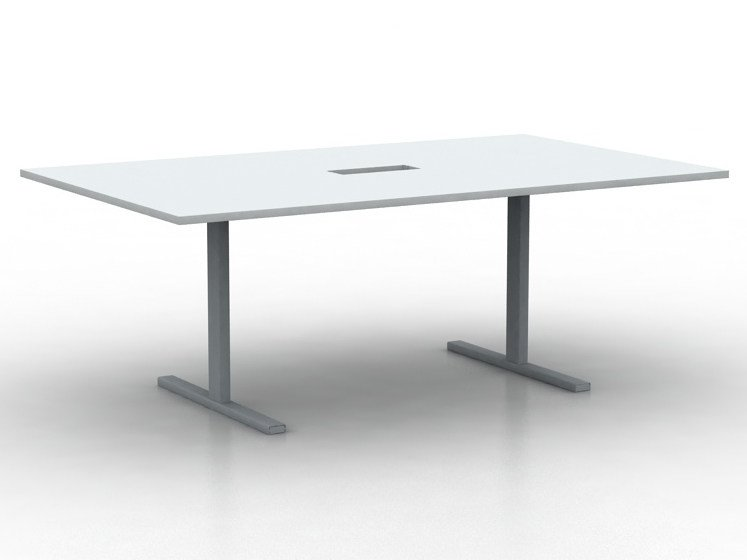 Rectangular meeting table T EASY | Meeting table by NARBUTAS