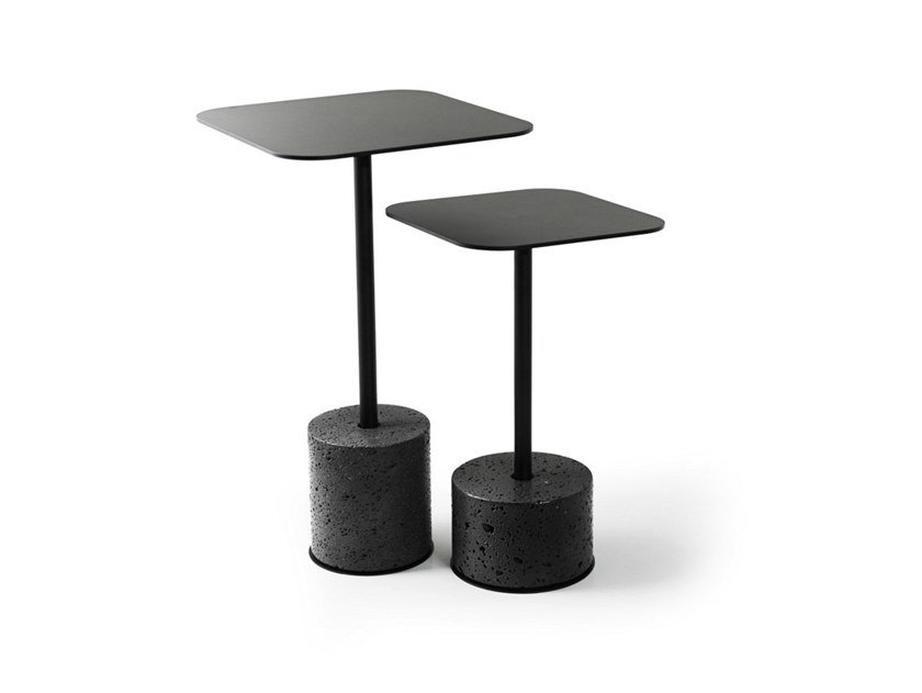 Low lava stone coffee table T by BUZAO