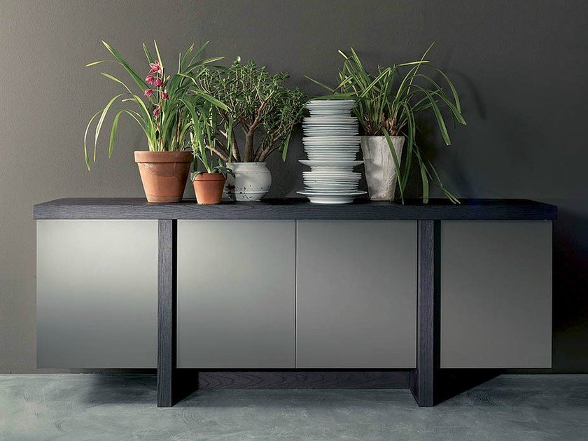 Lacquered sideboard T-LINE | Sideboard by Fimar