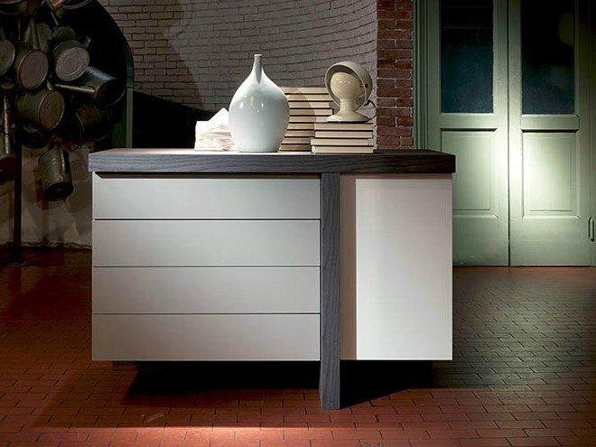 Lacquered sideboard T-LINE   Sideboard by Fimar