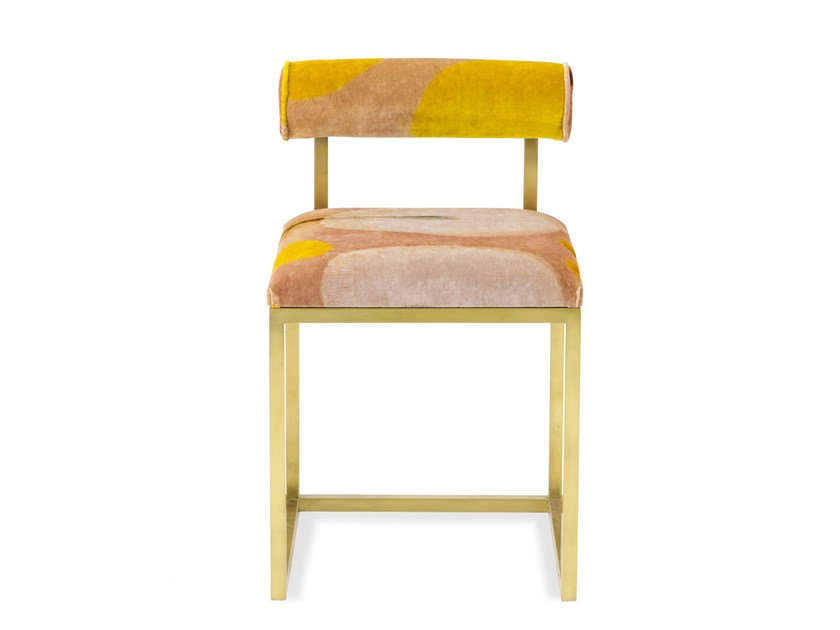 Upholstered velvet chair T   Upholstered chair by Secondome Edizioni