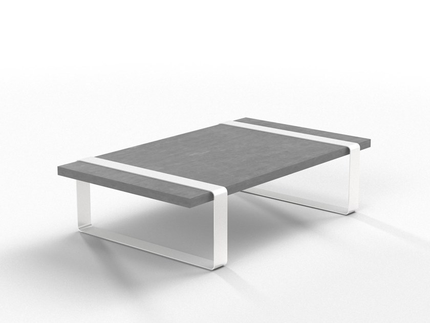 Low cement coffee table T10 by Forma&Cemento
