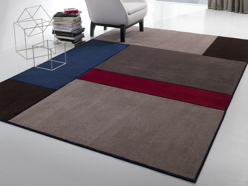 Handmade fabric rug NEW FEELINGS T1402S by Besana Moquette