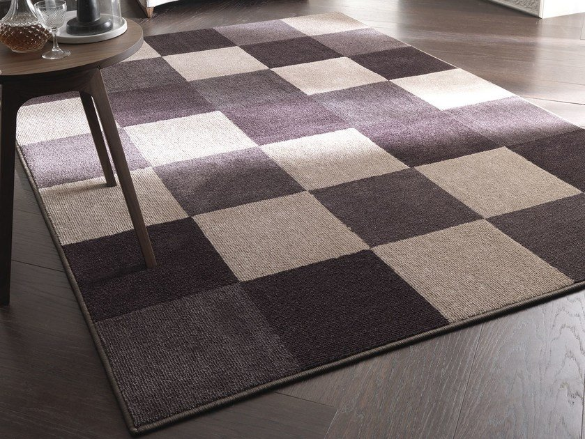 Handmade fabric rug NEW FEELINGS T1407SL by Besana Moquette