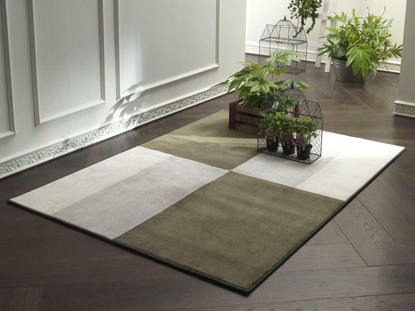 Handmade fabric rug NEW FEELINGS T1408SL by Besana Moquette