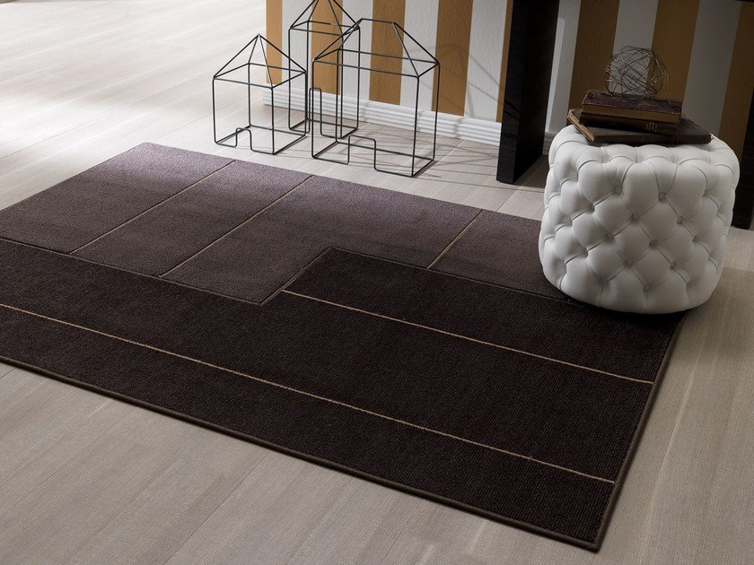 Handmade fabric rug NEW FEELINGS T1410SL by Besana Moquette
