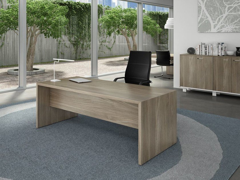 Rectangular executive desk T45 | Executive desk by Quadrifoglio