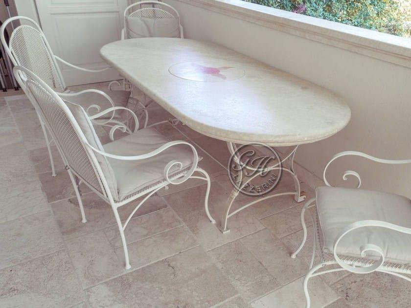 Tavolo da giardino ovale in pietra Tavolo in pietra 9 - GH LAZZERINI