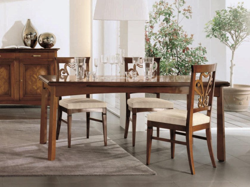 Extending solid wood table NAIMA | Rectangular table by Arvestyle