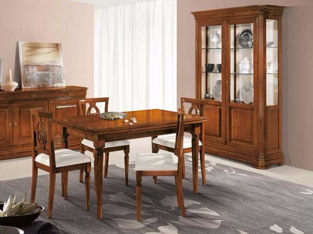 Extending solid wood table AMALFI | Table by Arvestyle