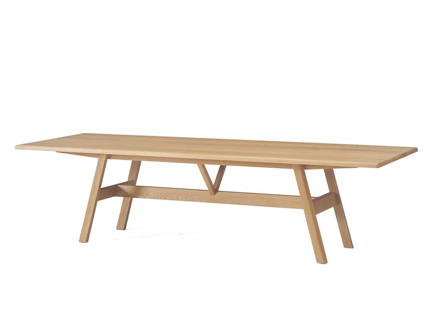 Rectangular solid wood dining table KANT   Table by BassamFellows