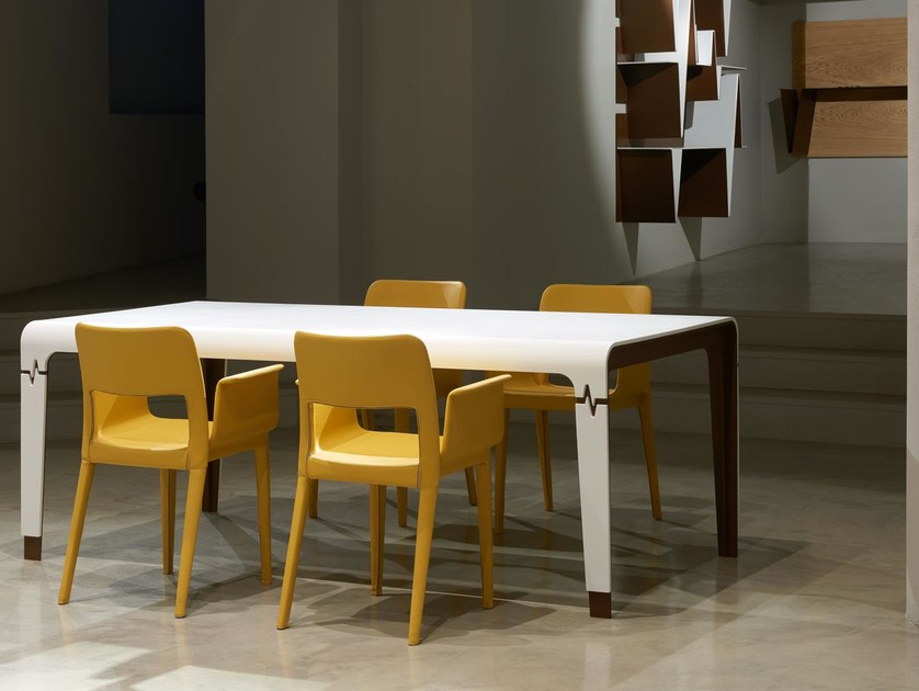 Rectangular Solid Surface table HEART | Table by Boffetto