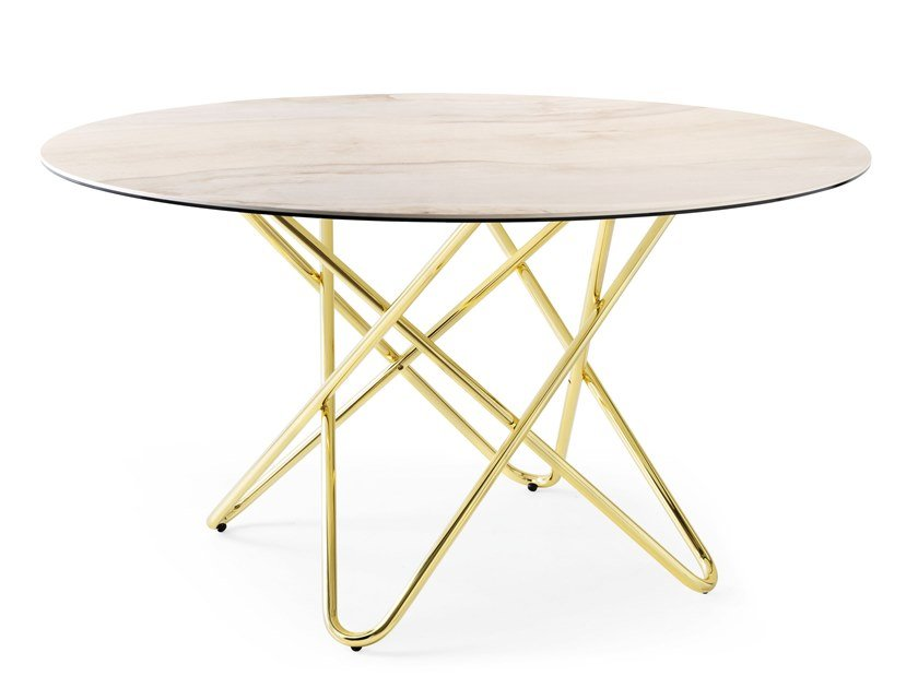 Round ceramic table STELLAR | Table by Calligaris