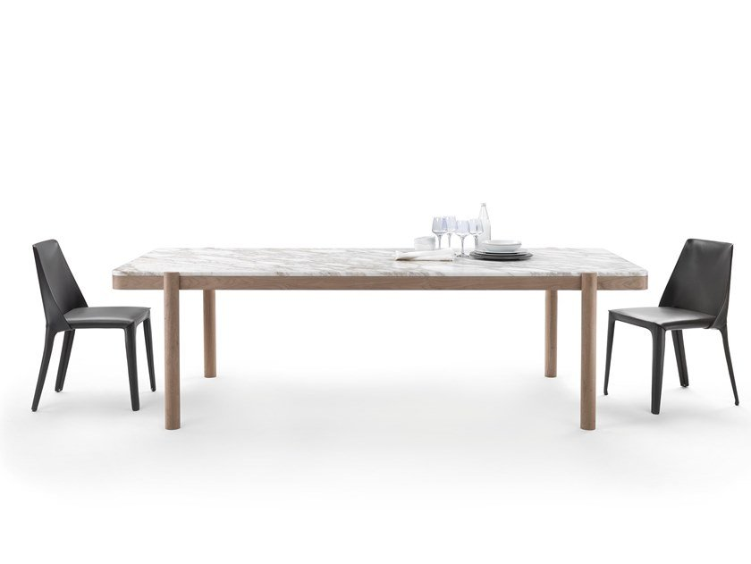 Rectangular marble table GUSTAV | Table by FLEXFORM