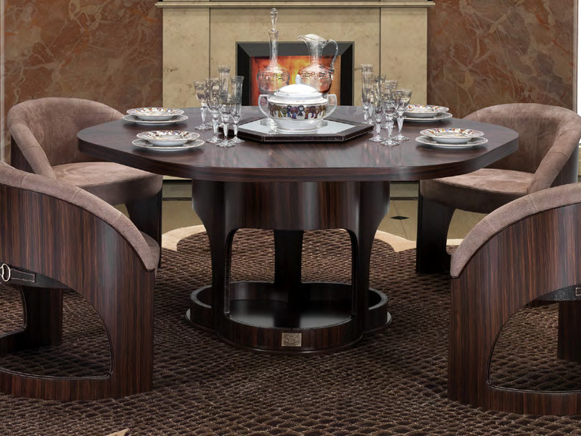 Lacquered dining table with Lazy Susan CHELSEA '13   Table by Formitalia