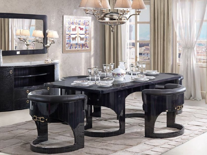 Lacquered rectangular dining table CHELSEA | Table by Formitalia