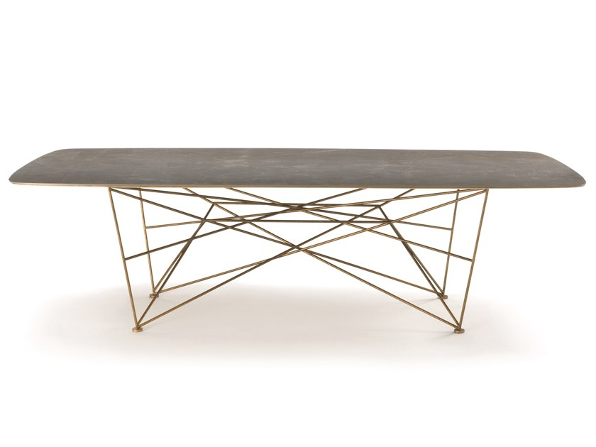 Mesa rectangular de gres porcelánico RAY   Mesa by Frigerio Salotti