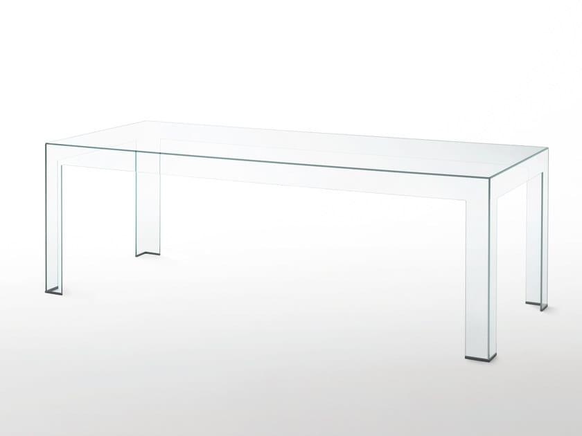 Rectangular crystal table ATLANTIS | Table by Glas Italia