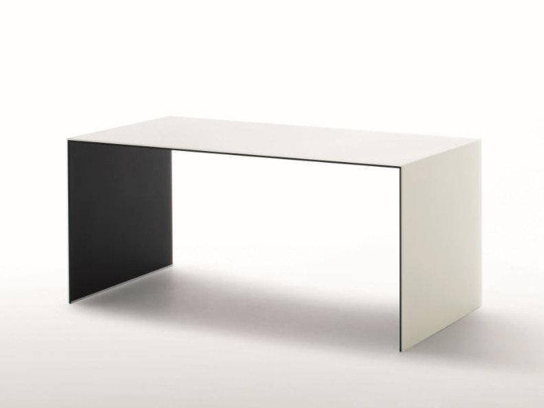 Rectangular crystal table SIO2 BRIDGE | Table by Glas Italia