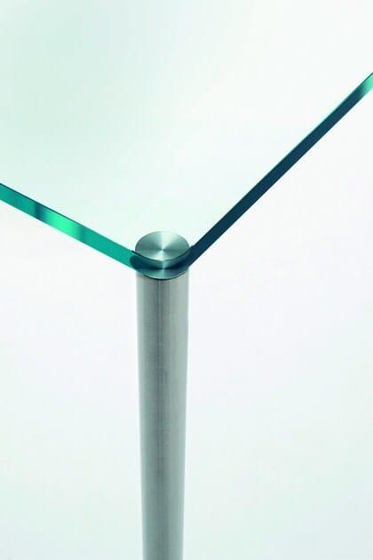 SteelTavolo In Rettangolare Cristallo Glas Italia f7yvY6bg