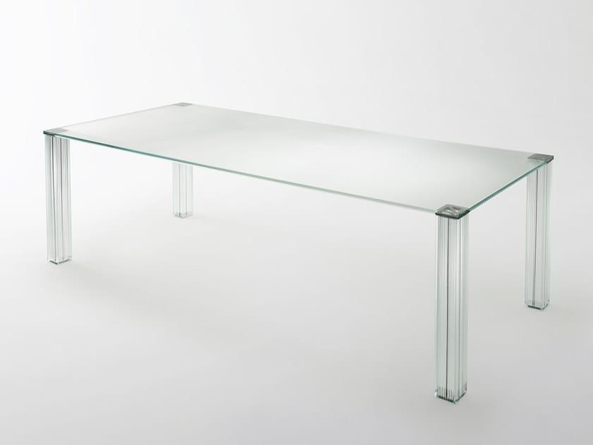 Rectangular crystal table CRYPTÉE | Table by Glas Italia
