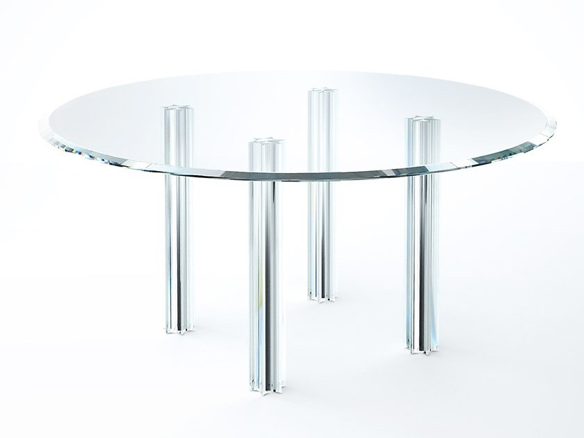 Round crystal table STARLIGHT | Table by Glas Italia
