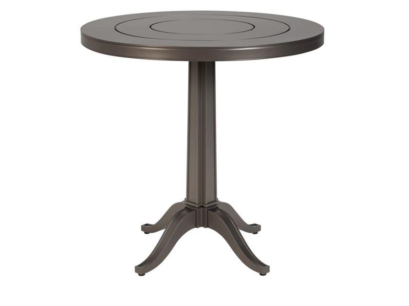 Round aluminium garden table CHARLES | Table by JANUS et Cie