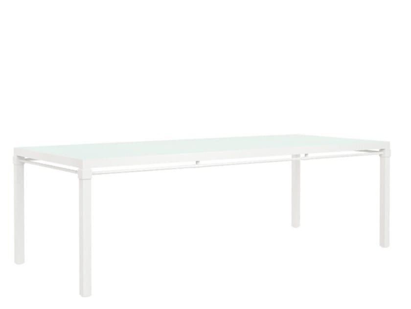Aluminium garden table PALMIA | Table by JANUS et Cie