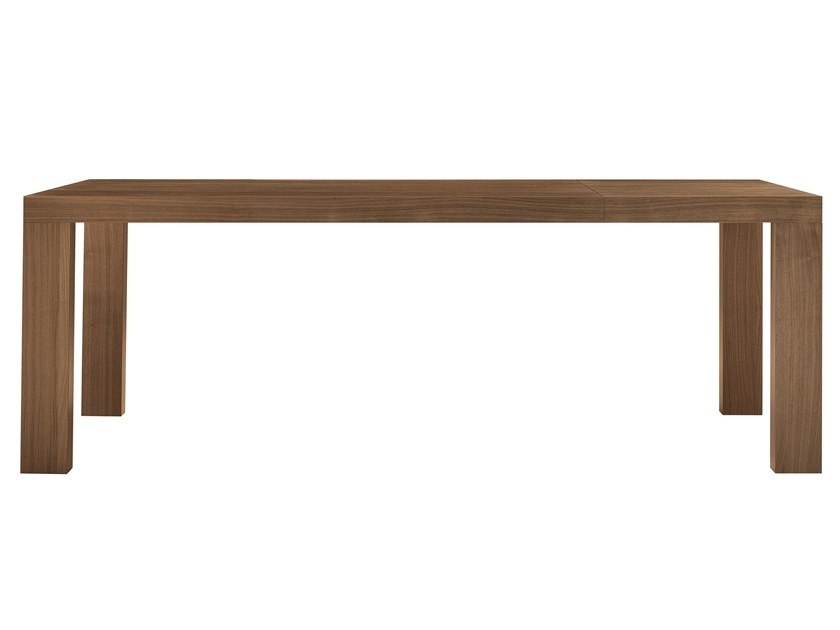 Extending rectangular walnut table TRANOI | Walnut table by JESSE