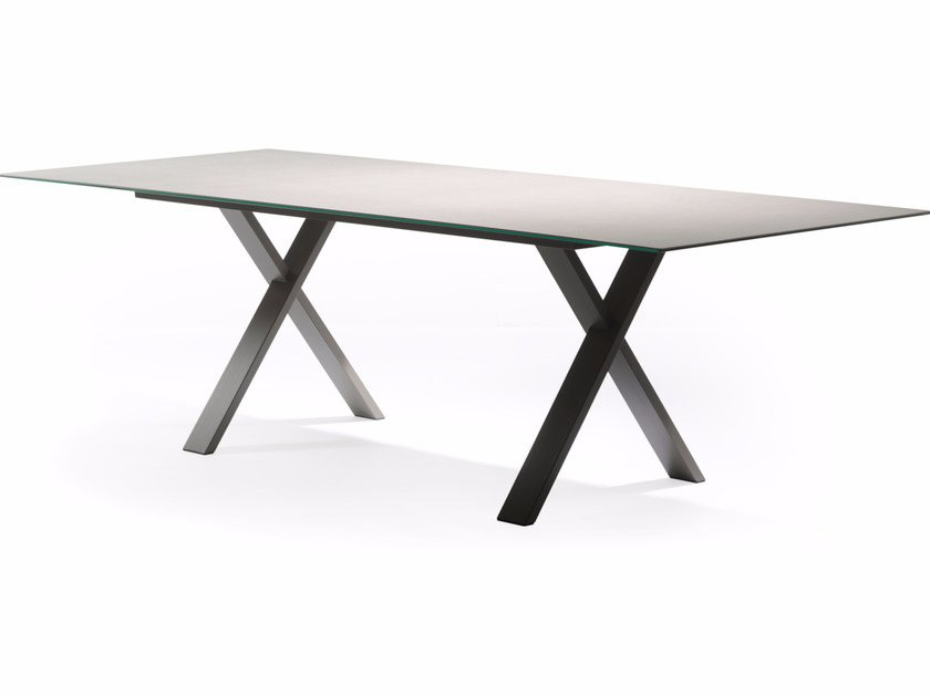 Rectangular Xeramica garden table CROSS | Table by Joli