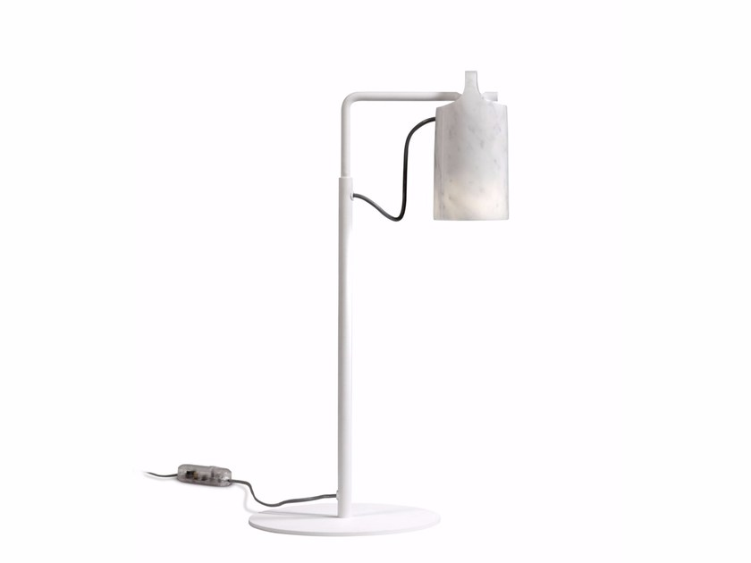 LED adjustable Carrara marble table lamp PAROS | Table lamp by ALMA LIGHT