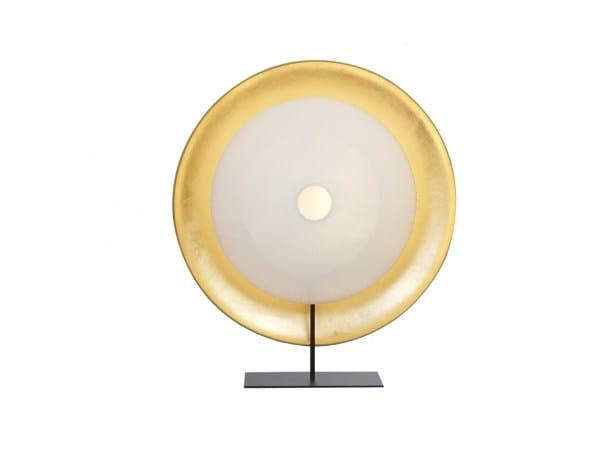 Lampada da tavolo in carta giapponese PALANQUIN OR | Lampada da tavolo by CFOC