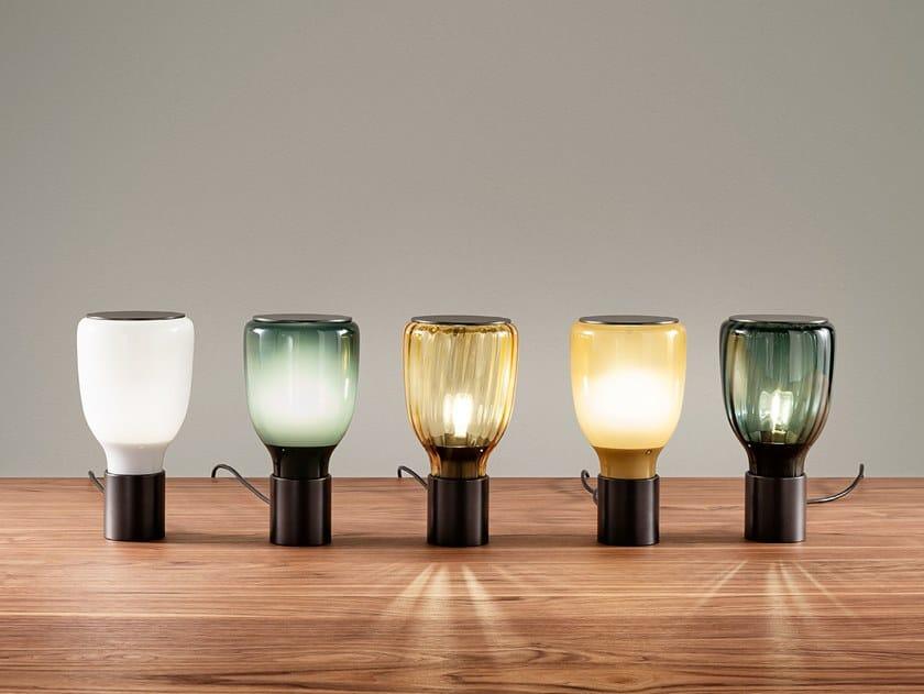 Lampada da tavolo in vetro soffiato ACQUERELLI   Lampada da tavolo by Bonaldo