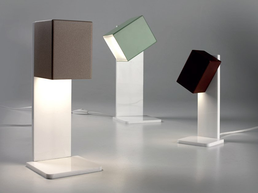 LED adjustable metal table lamp CUBICK | Table lamp by Cattaneo