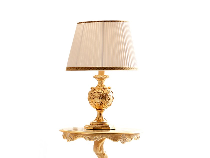 Gold leaf table lamp OPERA | Table lamp by Andrea Fanfani