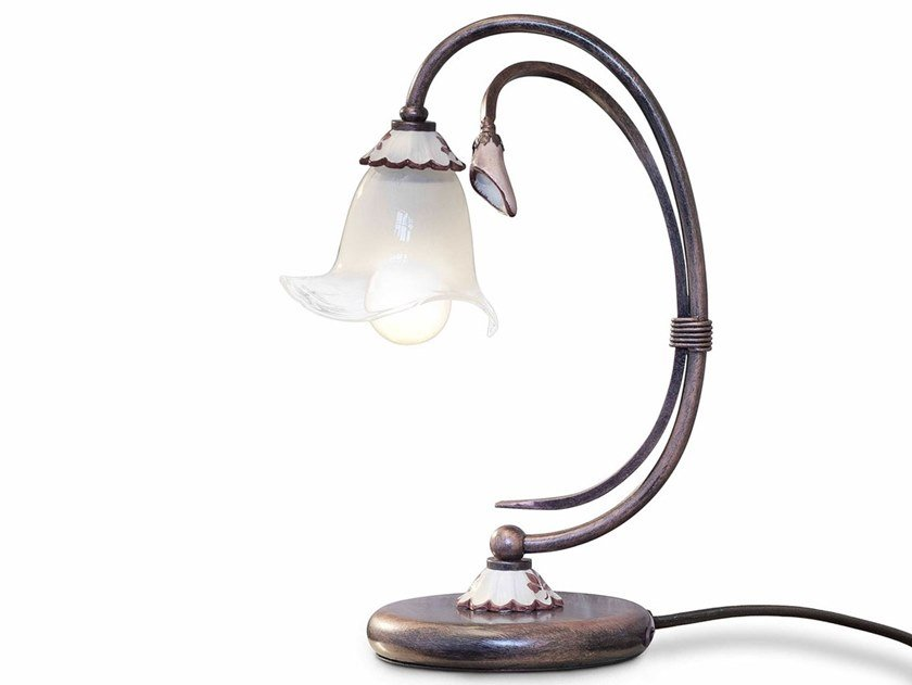 Ceramic table lamp with fixed arm VICENZA | Table lamp by FERROLUCE
